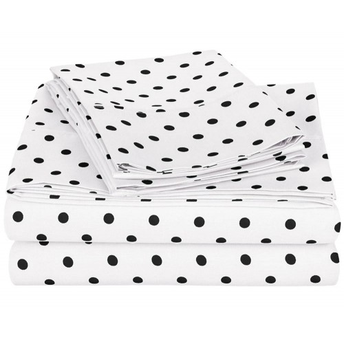 600tc Cotton Rich Polka Dots Sheet Set