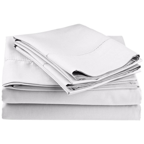 Impressions 600 Thread Count Cotton Rich Hem Stitch Sheet Set W/ Bonus Pillowcases