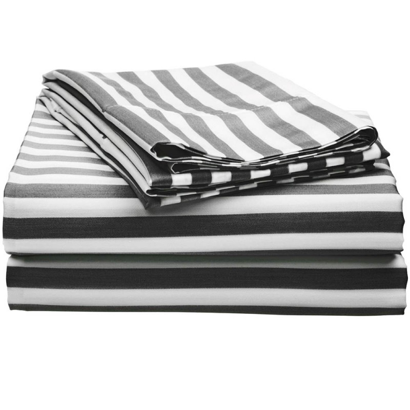 600tc Cotton Rich Cabana Stripe Sheet Set Egyptian Cotton Sheets