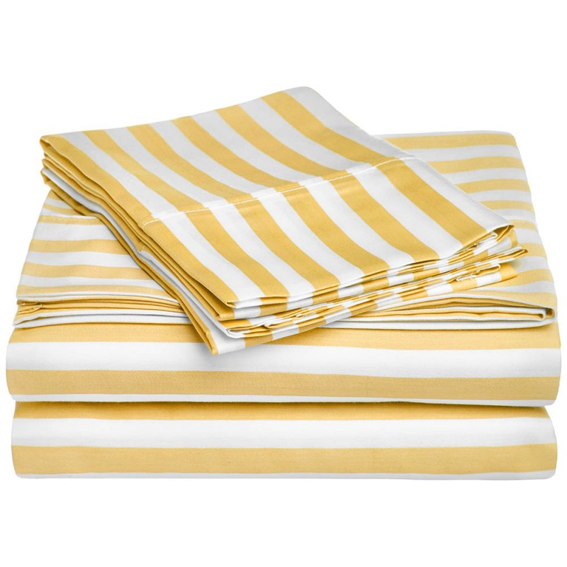 600tc Cotton Rich Cabana Stripe Sheet Set