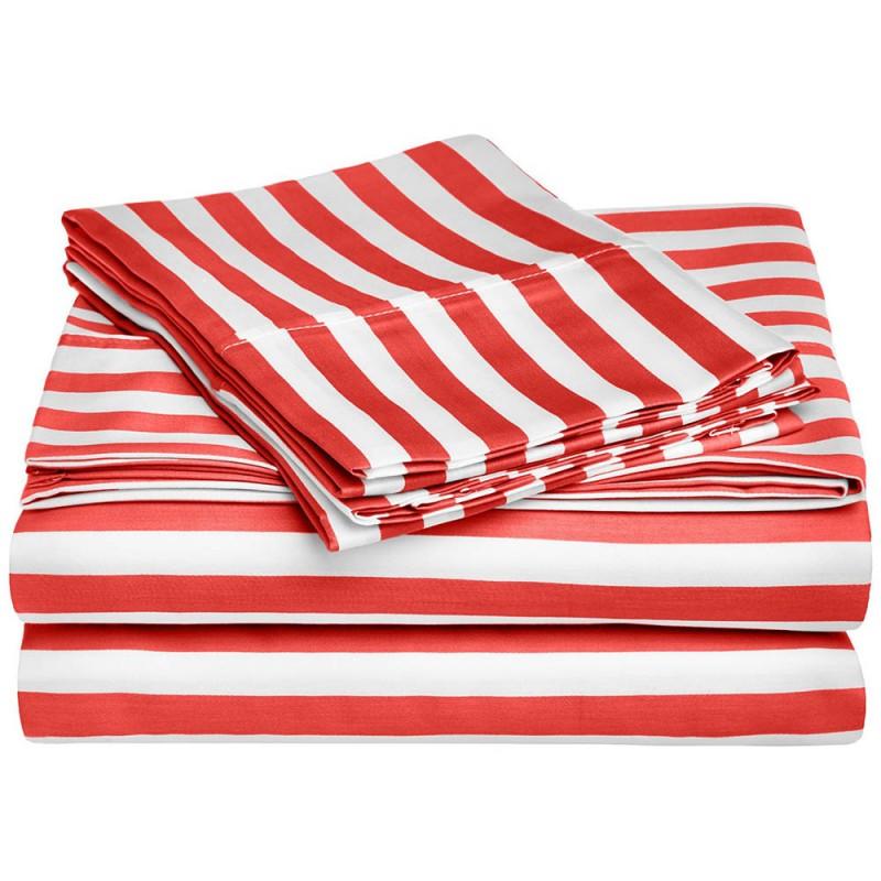 600tc Cotton Rich Cabana Kids Stripe Sheet Set