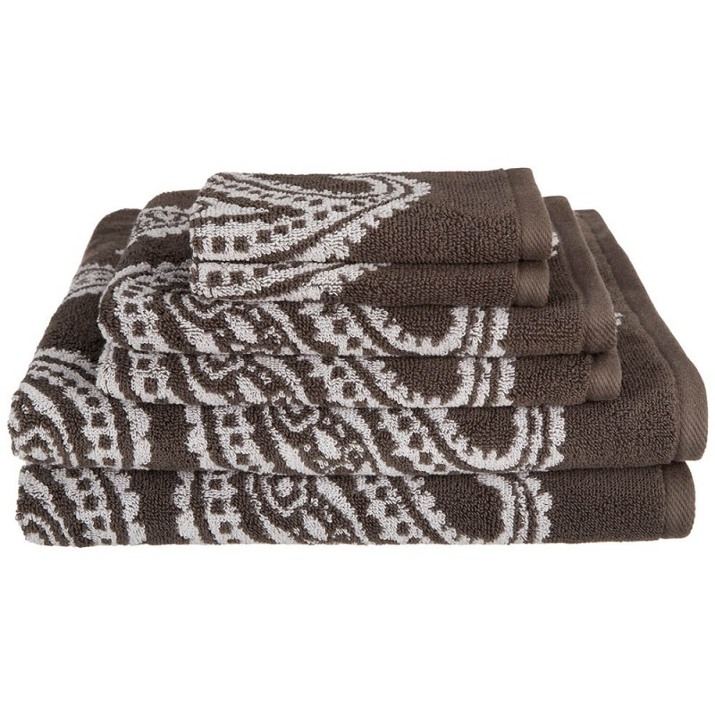 Paisley 100% Cotton 6-Piece Towel Set