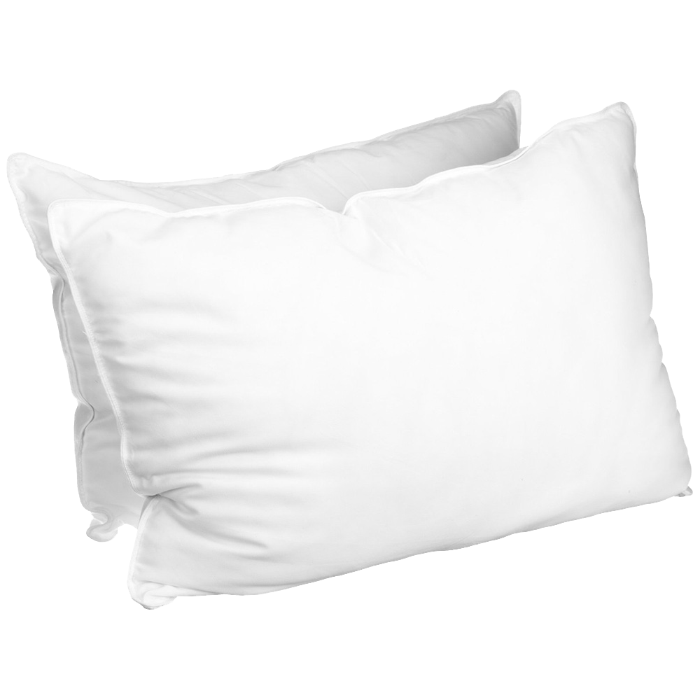 Luxurious Down Alternative Solid Pillows Set Of 2