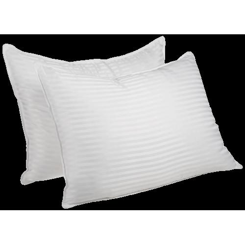 Luxurious Down Alternative Striped Pillows (set of 2)