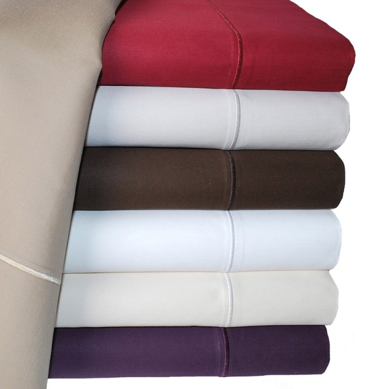 thread count solid sheet set