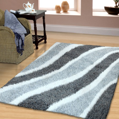 Waverling Collection Hand Woven And Soft Shag Rug