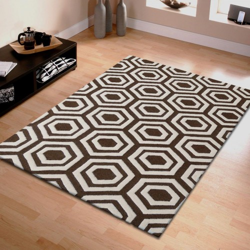 Hand Tufted Geometric Wool Rug