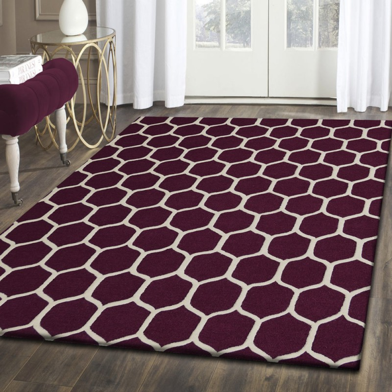 Hand Tufted Honeycomb Wool Rug