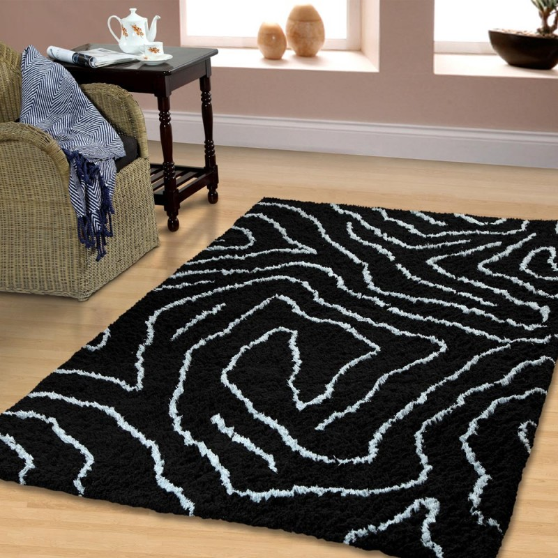Carelton Collection Hand Woven And Soft Shag Rug