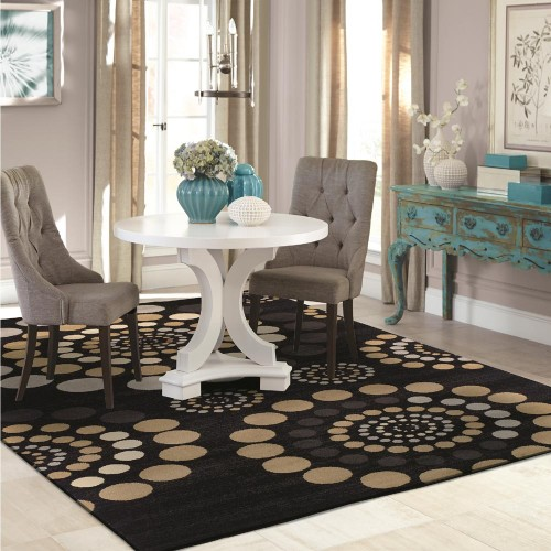 Modern City Circles Area Rug Collection