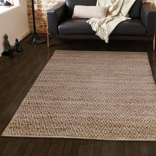 Natural Diamond Collection Hand Woven Jute Rug