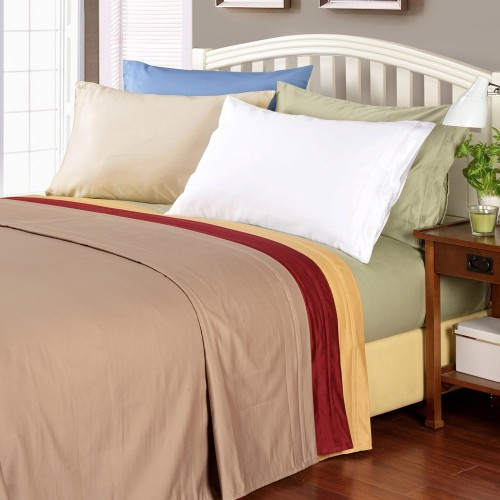 1000tc Egyptian Cotton Solid Sheet Set