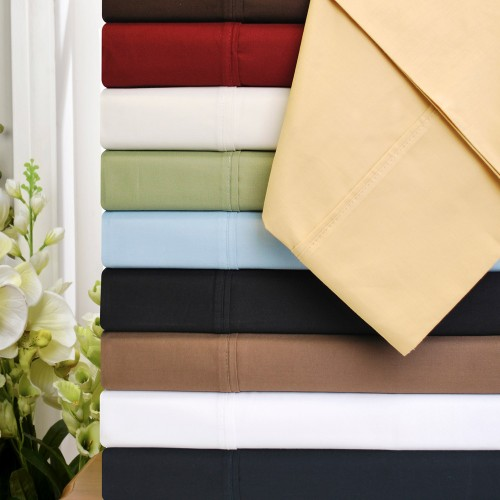 530tc Premium Cotton Solid Pillowcase Set