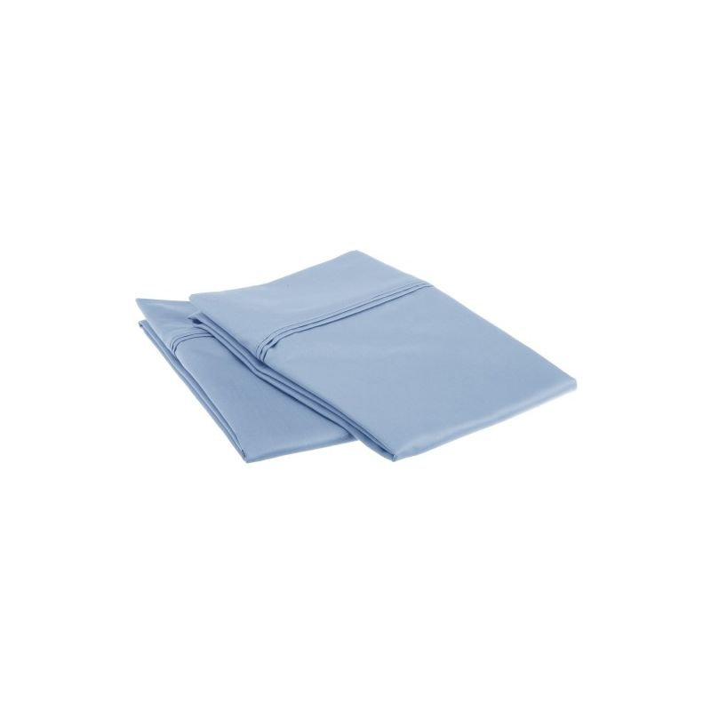 FINISH 1200tc 100% Premium Long Staple Combed Cotton Solid Pillowcase Set