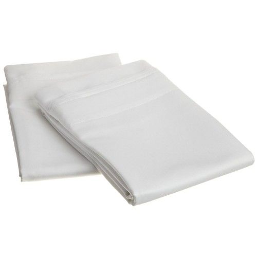 1000tc Egyptian Cotton Solid Pillowcase Set