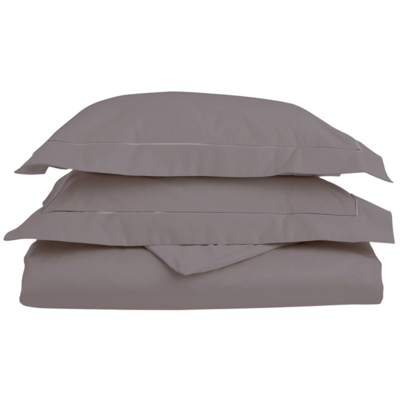 800tc Egyptian Cotton Solid Duvet Set with Embroidery