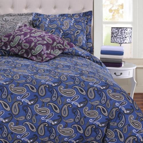 Flannel Cotton Paisley Duvet Cover Set Egyptian Cotton