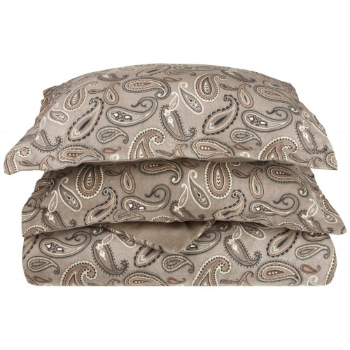 Flannel Cotton Paisley Duvet Cover Set