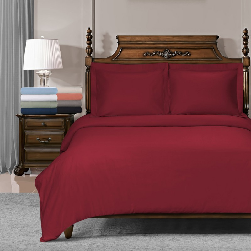 800tc Cotton Solid Duvet Set