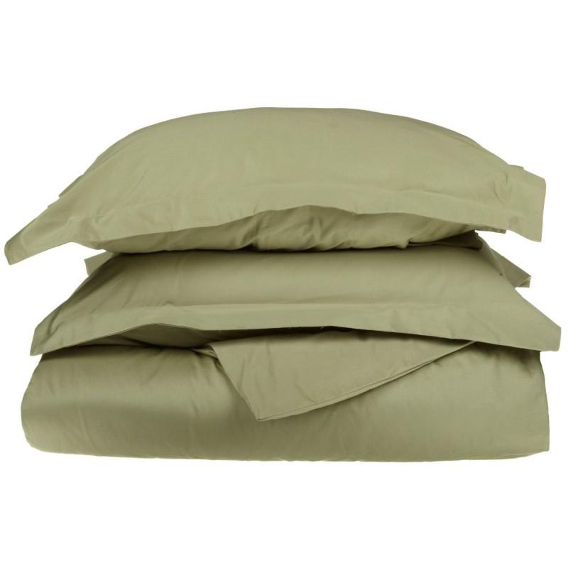 530tc Egyptian Cotton Solid Duvet Set