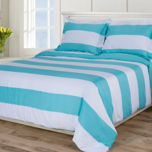 600tc Cotton Rich Cabana Kids Stripe Duvet Set