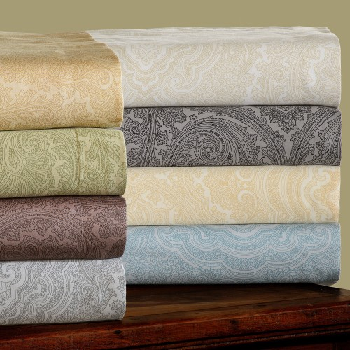 600tc Cotton Rich Italian Paisley Duvet Set