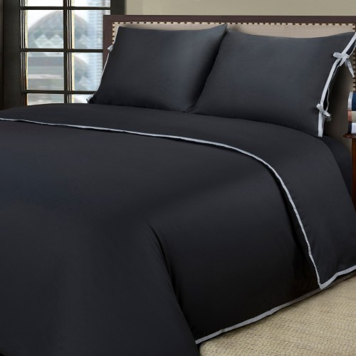 600tc Cotton Rich Bahama Solid Duvet Set