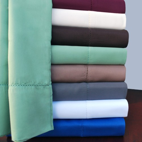600tc Cotton Rich Solid Hem Stitch Duvet Set