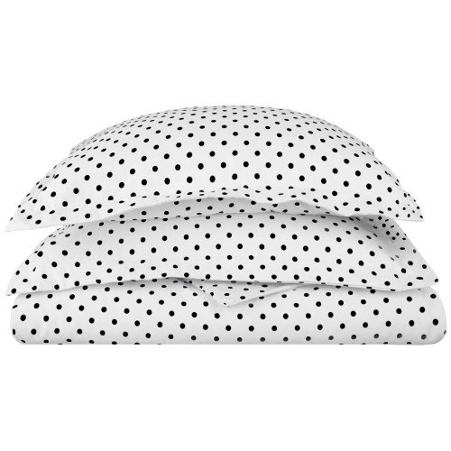600tc Cotton Rich Polka Dots Duvet Set