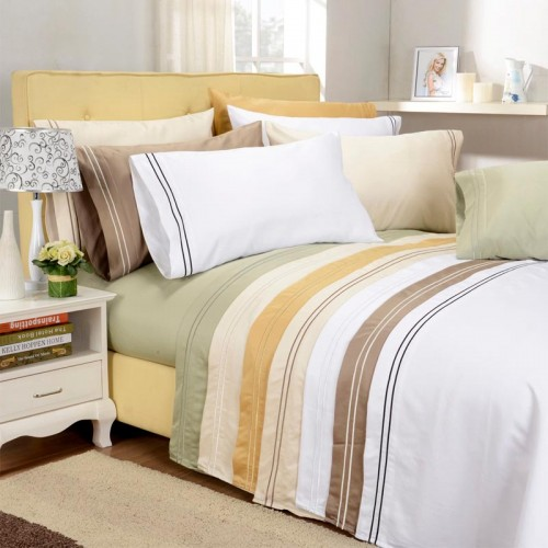 800tc Premium Cotton Solid Sheet Set with Embroidery