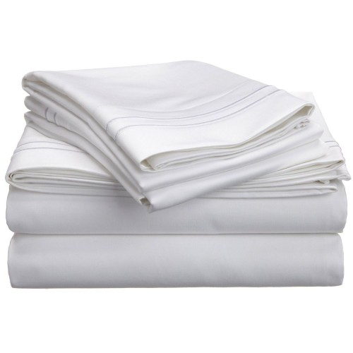 800tc Egyptian Cotton Solid Sheet Set with Embroidery