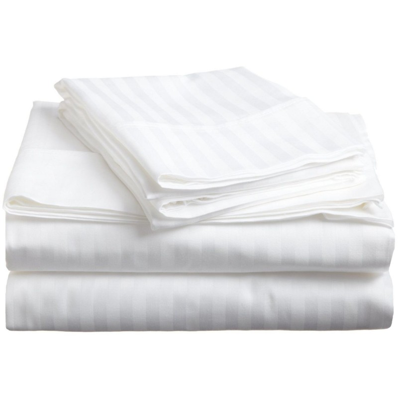 300tc Premium Cotton Stripe Sheet Set