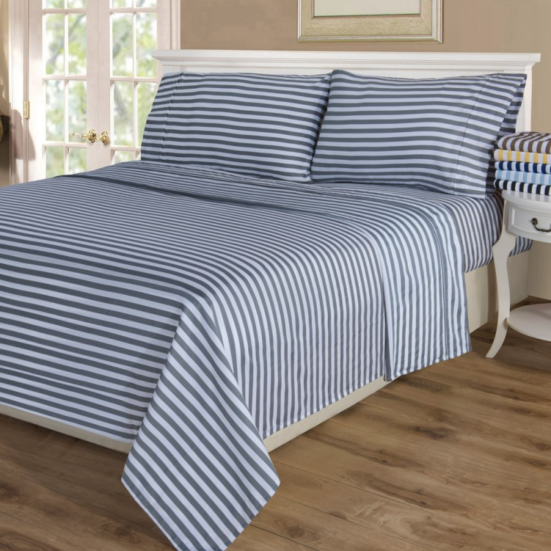 600tc Cotton Rich Cabana Stripe Sheet Set ...