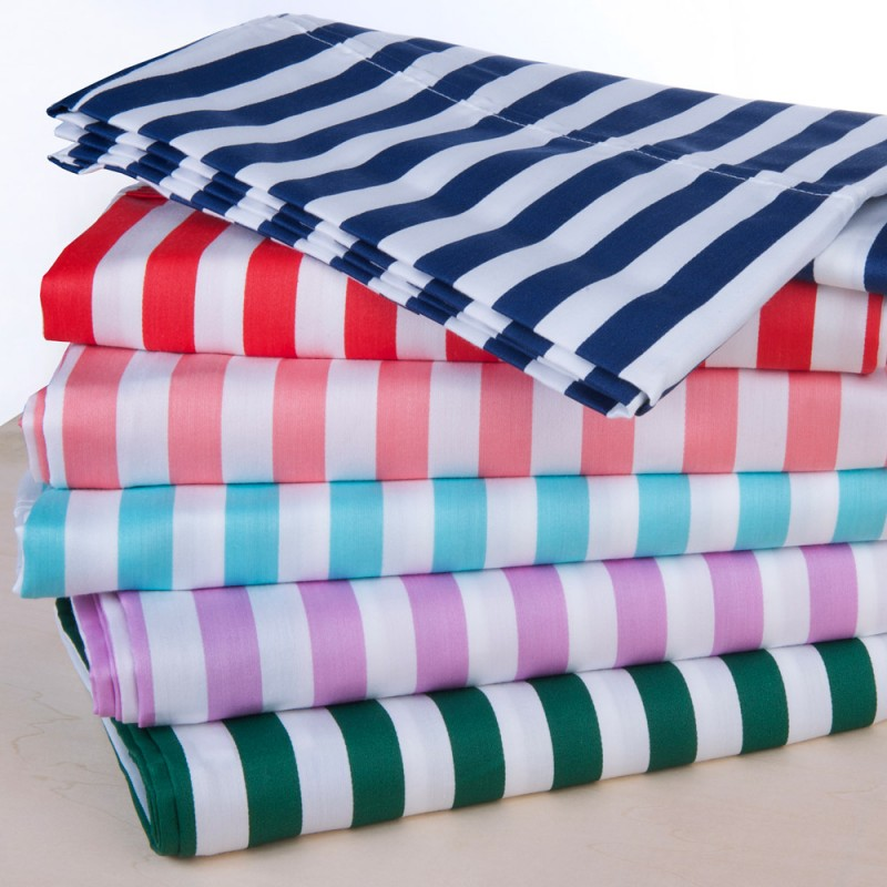 600tc Cotton Rich Cabana Kids Stripe Sheet Set