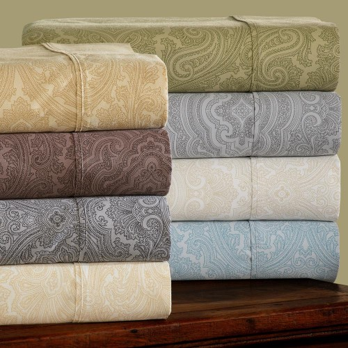 600tc Cotton Rich Italian Paisley Sheet Set
