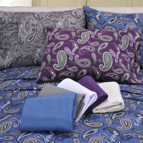 Flannel Cotton Paisley Sheet Set