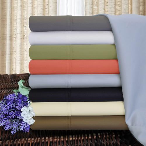 1200tc Cotton Rich Solid Pillowcase Set