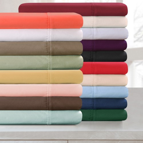 300tc Premium Cotton Solid Pillowcase Set