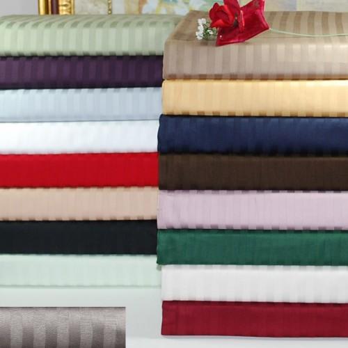 300tc Premium Cotton Stripe Pillowcase Set