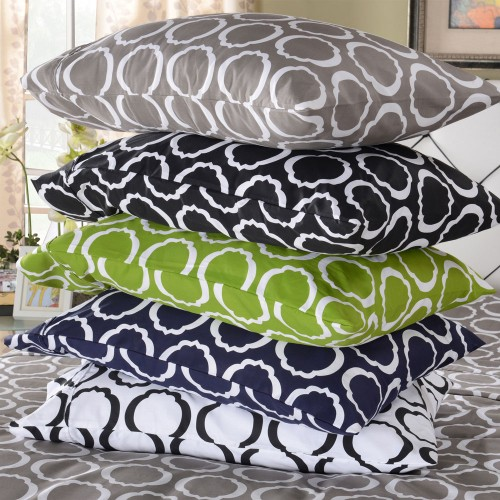 600tc Cotton Rich Scroll Park Pillowcase Set