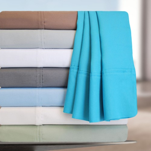 600tc Cotton Rich Solid Pillowcase Set