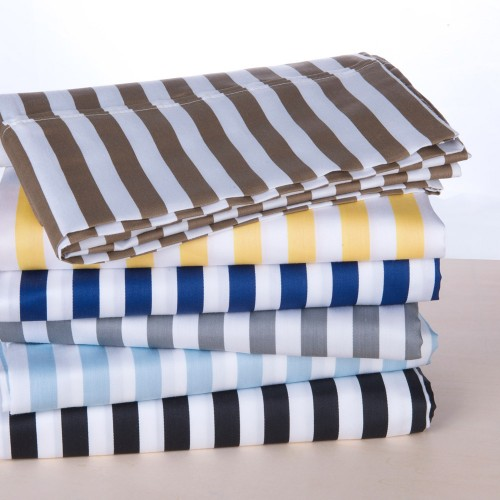 600tc Cotton Rich Cabana Stripe Pillowcase Set