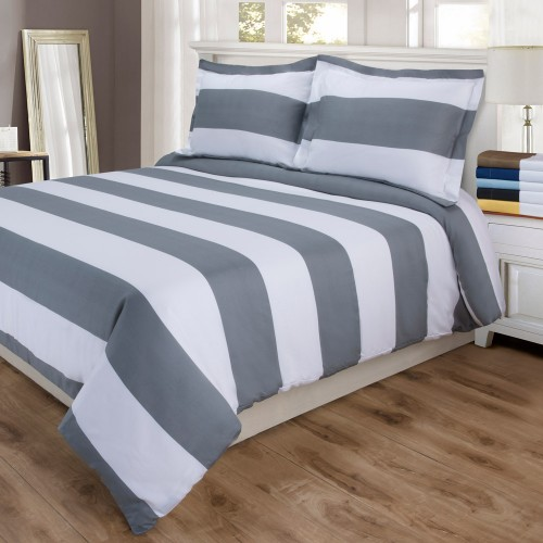 600tc Cotton Rich Cabana Stripe Duvet Set