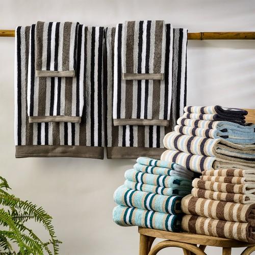Stripe 100% Cotton 2-Piece Bath Sheet Towel Set