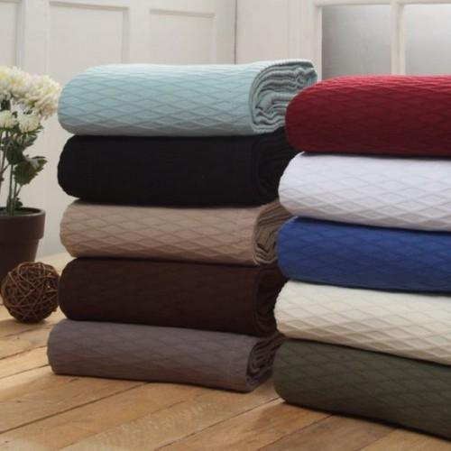 Luxurious 100% Cotton Diamond Blanket