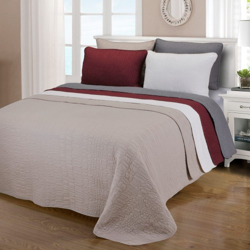 McKinley 100% Cotton Quilt Set