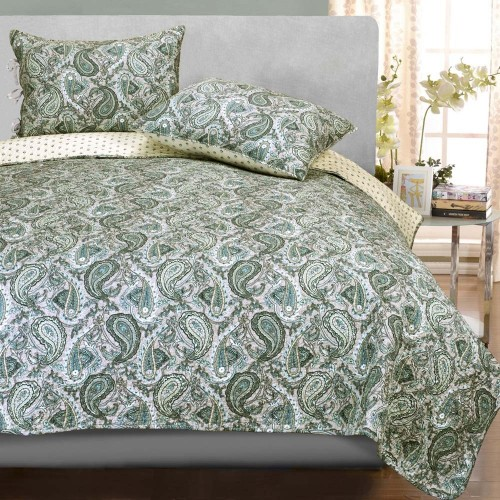 Moroccan Paisley 100% Cotton Quilt Set