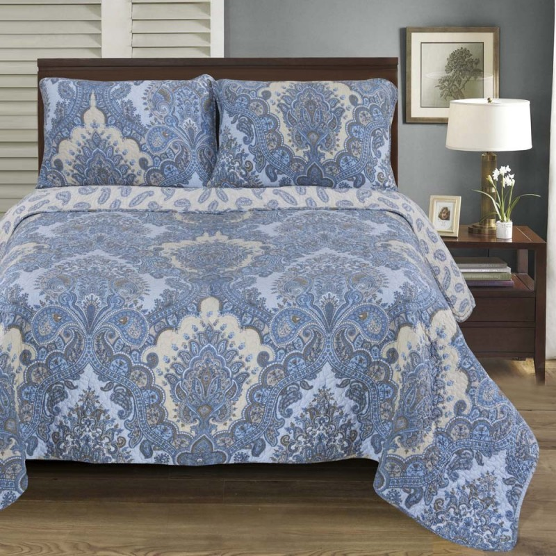 Wave 100% Cotton Quilt Set