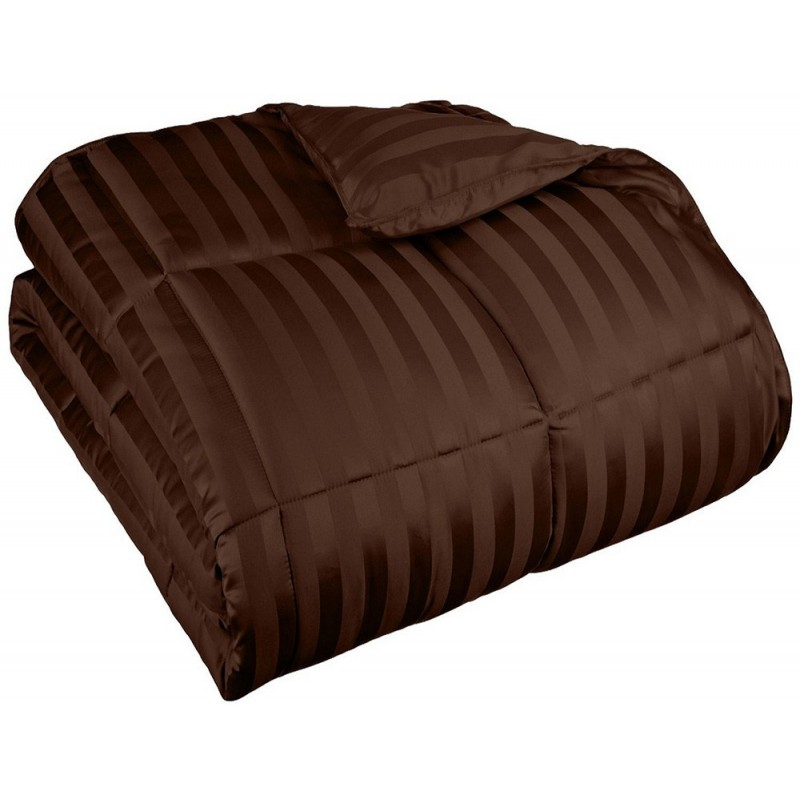 All Season Down Alternative Wide Stripe Comforter
