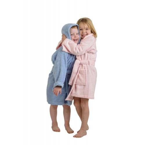 Premium Cotton Kids Hooded Unisex Terry Robes
